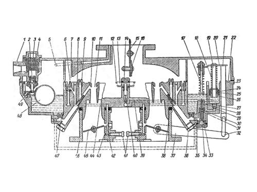 Схема карбюратора К-88АМ